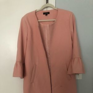 Pink jacket with sleeve detail